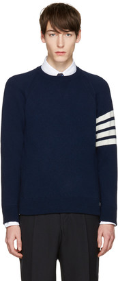 Thom Browne Navy Cashmere Pullover $1,160 thestylecure.com