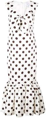 Rebecca De Ravenel polka dot peplum dress