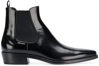 Prada brushed leather Beatles boots