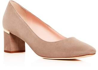 Kate Spade Women's Dolores Too Suede Block Heel Pumps