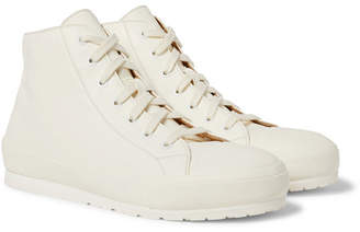 Brioni Leather High-Top Sneakers
