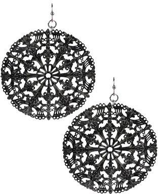 Filigree Disc Cutout Earrings