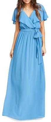 Women's Show Me Your Mumu Audrey Ruffle Wrap Front Gown $198 thestylecure.com