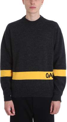 Oamc Grey Wool Sweater