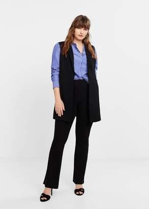 MANGO Violeta BY Button suit vest black - XS - Plus sizes