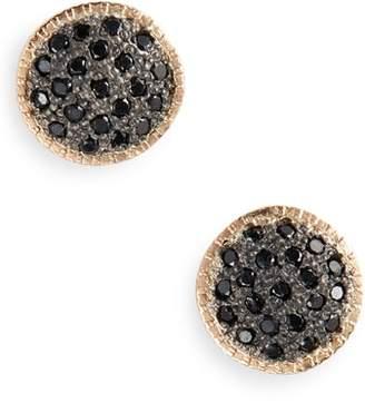 Armenta New World Black Diamond Stud Earrings