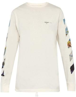 Off-White Off White Arrow Print Cotton T Shirt - Mens - White