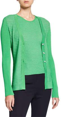 Missoni Fishtail Knit V-Neck Cardigan