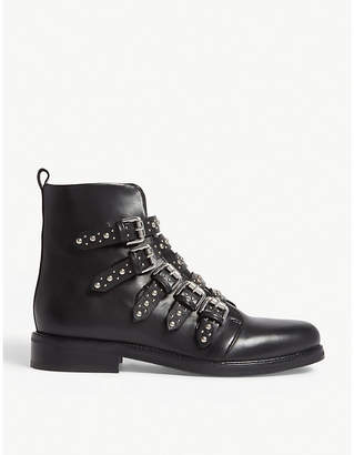 Maje Fortune studded leather boots