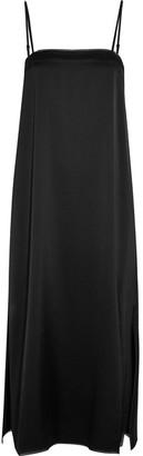 DKNY - Satin Midi Dress - Black $150 thestylecure.com