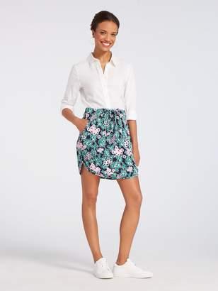 Draper James Tropical Floral Drawstring Mini Skirt
