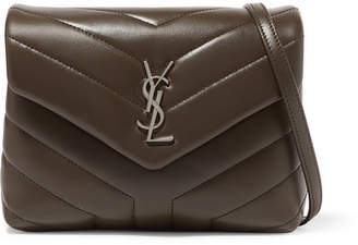 Saint Laurent Loulou Toy Quilted Leather Shoulder Bag - Brown