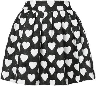 Alice + Olivia Alice+Olivia hearts print pleated skirt