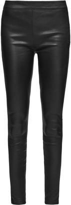 Reiss Goldie - Leather Leggings in Black