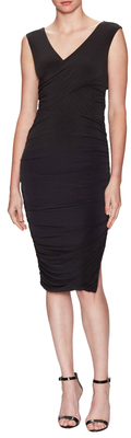 Tricot Jersey Ruched Midi Dress $218 thestylecure.com