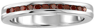 FINE JEWELRY 1/4 CT. T.W. Color-Enhanced Red Diamond Sterling Silver Band Ring