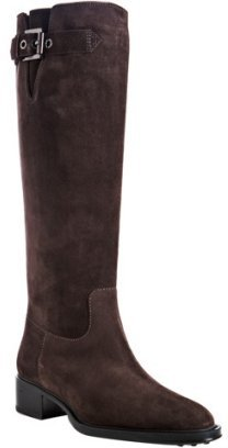 Tod's dark brown suede 'Zelia' flat boots