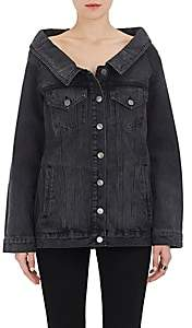 Robert Rodriguez WOMEN'S WIDE-COLLAR DENIM JACKET-BLACK SIZE L