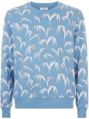 Sandro Palm Print Sweatshirt