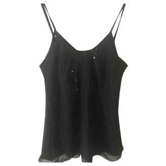 Pablo Black Silk Top for Women
