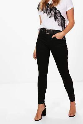Nadia Röhrenjeans mit hohem Bund und 5 Taschen in Schwarz größe 34