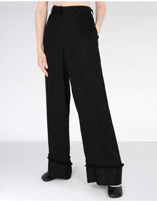 Maison Margiela Striped Casual Pompom Pants
