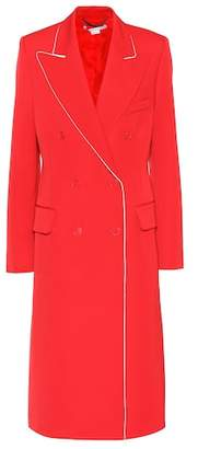 Stella McCartney Contrast-piped wool coat