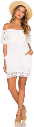 Tularosa Quinn Smocked Dress in White $158 thestylecure.com