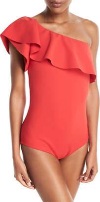 Chiara Boni Eli One-Shoulder Solid One-Piece Swimsuit