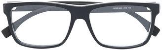 Boss Hugo Boss rectangular frame glasses $260.15 thestylecure.com