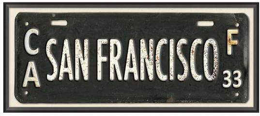 San Francisco Framed Art