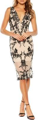 Bardot Embroidered Body-Con Dress