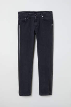 H&M Jeans with Side Stripes - Black