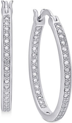 Townsend Victoria Diamond Hoop Earrings (1/2 ct. t.w.) in 18K Gold over Sterling Silver, 18K Rose Gold over Sterling Silver or Sterling Silver