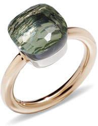 Pomellato Nudo 18k Rose Gold Prasiolite Ring, Size 51
