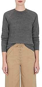 VIS A VIS Women's Waffle-Knit Wool Sweater-Gray