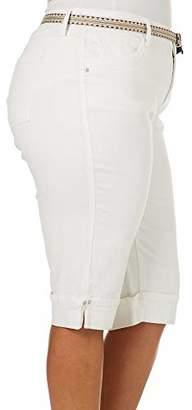 Gloria Vanderbilt Women's Plus Size Clio Belted Skimmer with Cuff Hem