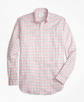 Brooks Brothers Milano Fit Oxford Large Check Sport Shirt