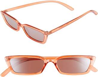 Leith 51mm Thin Long Square Sunglasses