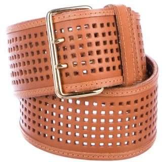 Linea Pelle Leather Perforated Belt