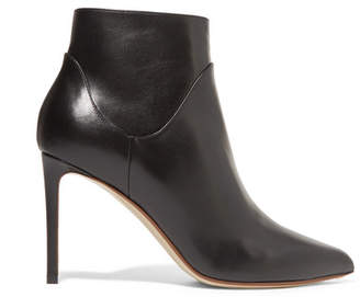 Francesco Russo Leather Ankle Boots - Black