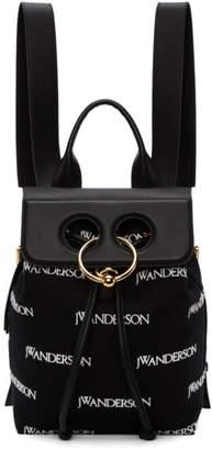 J.W.Anderson Black Mini Pierce Logo Backpack
