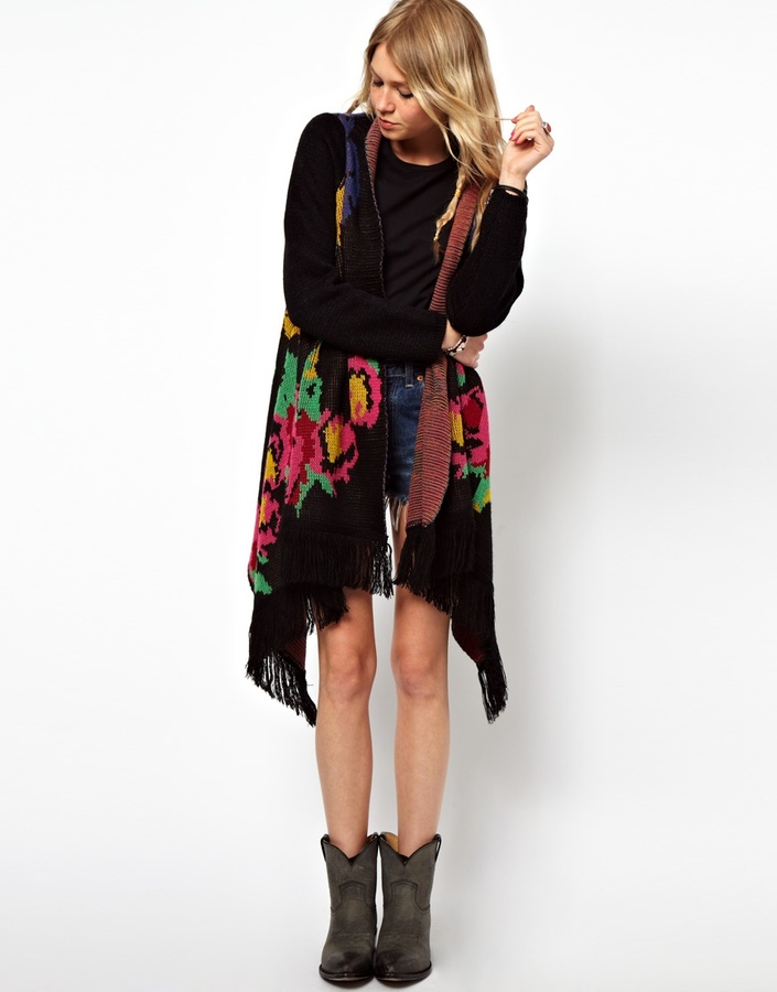 Asos Floral Blanket Wrap