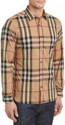 Burberry Nelson Check Stretch Cotton Shirt