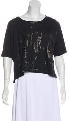 Rag & Bone Short Sleeve Crop Top
