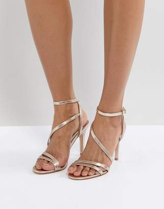 23395859b8b at Asos · Faith Delly Rose Gold Heeled Sandals