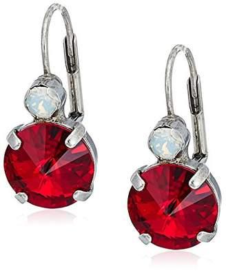 Sorrelli Crimson Pride Closed Circle Drop Earrings