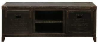 Stylecraft Generic Archer Ridge Vintage Style TV-Media Cabinet - Rustic Blackened-Brown