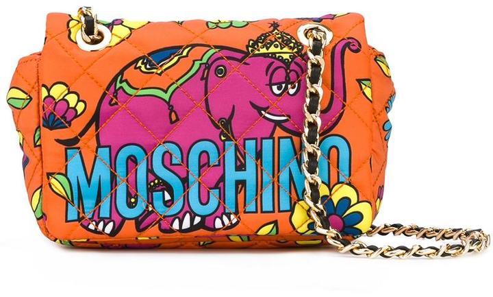 MoschinoMoschino crowned elephant shoulder bag