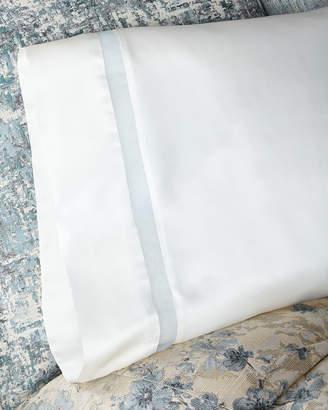 Fino Lino Linen & Lace Amelia Charmeuse Silk King Pillowcase with Organza Inset